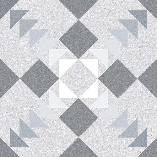 Carrelage style Pop/Seventies inspiration Art Déco 20x20 cm BENACO HUMO   - Echantillon - zoom