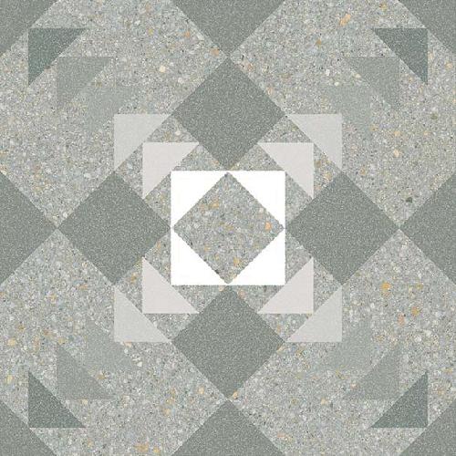 Carrelage style Pop/Seventies inspiration Art Déco 20x20 cm BENACO MAR   - Echantillon - zoom