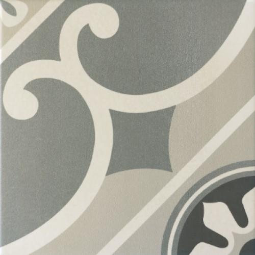 Carrelage imitation ciment rosace 20x20 cm CAPRICE CHATELET 20930-   - Echantillon - zoom
