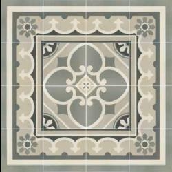 Carrelage imitation ciment rosace 20x20 cm CAPRICE CHATELET 20930-   - Echantillon Equipe