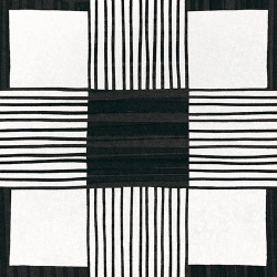 Carrelage imitation ciment 20x20 cm CAPRICE DECO CLOTH B&W 22124-   - Echantillon Equipe