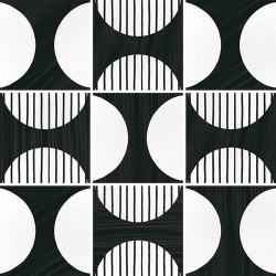 Carrelage imitation ciment 20x20 cm CAPRICE DECO MOONLINE B&W 22126-   - Echantillon Equipe