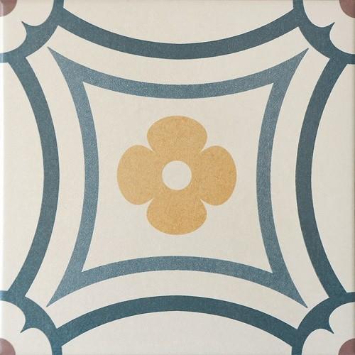 Carrelage imitation ciment rosace 20x20 cm CAPRICE SAINT TROPEZ 20941   - Echantillon - zoom