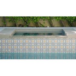 Carrelage imitation ciment rosace 20x20 cm CAPRICE SAINT TROPEZ 20941   - Echantillon Equipe