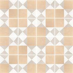 Carrelage imitation ciment 20x20 cm CAPRICE DECO CHESS PASTEL - 22106 -   - Echantillon Equipe