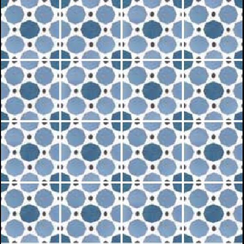 Carrelage imitation ciment 20x20 cm CAPRICE DECO SAPPHIRE COLOURS 22118 -   - Echantillon - zoom