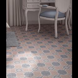 Carrelage imitation ciment 20x20 cm CAPRICE DECO SOLSTICE PASTEL - 22110 -   - Echantillon Equipe