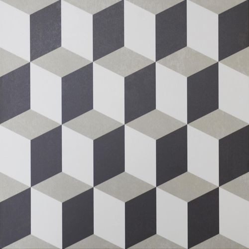 Carrelage style ciment cube 33x33 cm HANOI CUBE -   - Echantillon - zoom