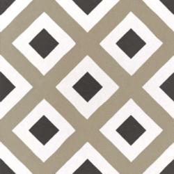 Carrelage imitation ciment géométrique damier 20x20 cm CAPRICE CITY COLOURS 22113 -   - Echantillon Equipe