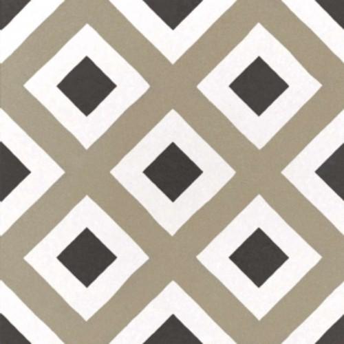 Carrelage imitation ciment géométrique damier 20x20 cm CAPRICE CITY COLOURS 22113 -   - Echantillon - zoom