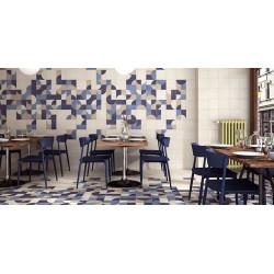 Carrelage pop art deco bleu MOON BLUE 44x44 cm -   - Echantillon Realonda