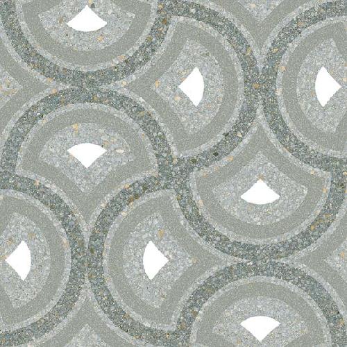 Carrelage style Pop/Seventies inspiration Art Déco 20x20 cm Pigneto Mar-   - Echantillon Vives Azulejos y Gres