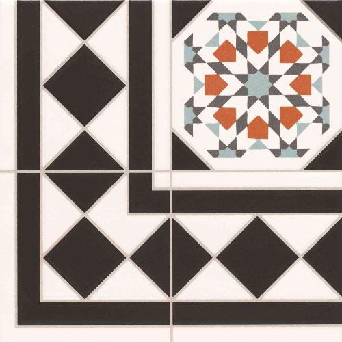 Carrelage 33.3x33.3 cm OXFORD DECO ESQUINA Angle - unité - Echantillon - zoom