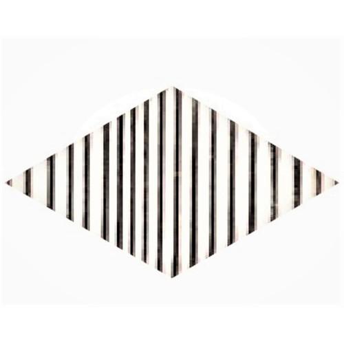 Carrelage mini-losange strié blanc et noir 15x8.55cm ROMBO TOP TITANI 10 - vendu à l'unité - Echantillon Natucer