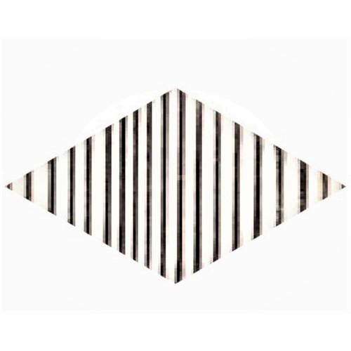 Carrelage mini-losange strié blanc et noir 15x8.55cm ROMBO TOP TITANI 10 - vendu à l'unité - Echantillon - zoom