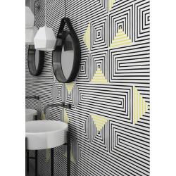 Carrelage graphique Art Déco 25x75 cm SASAK-7 BLACK -  - Echantillon Vives Azulejos y Gres