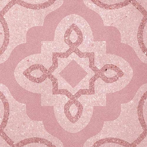 Carrelage style Pop/Seventies inspiration Art Déco 20x20 cm Tercello Coral   - Echantillon - zoom