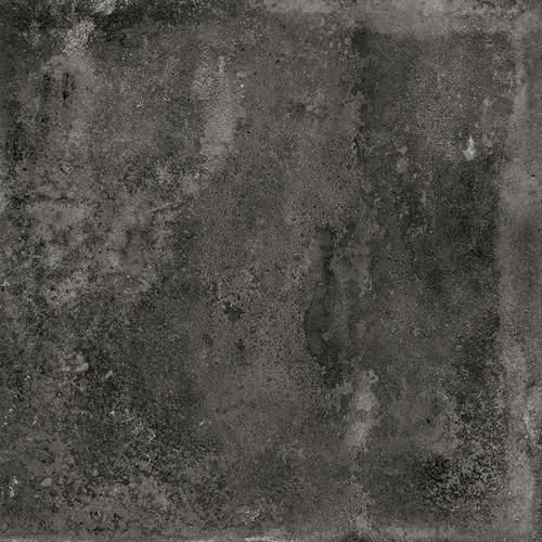 Carrelage imitation ciment noir 20x20cm URBAN DARK 23527 -   - Echantillon - zoom
