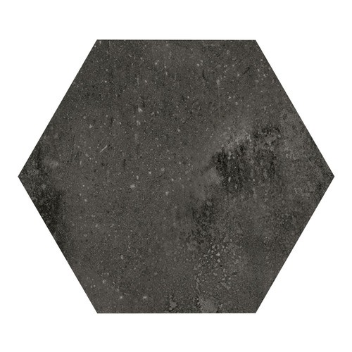 Carrelage hexagonal noir 29.2x25.4cm URBAN HEXAGON DARK 23515 -   - Echantillon - zoom