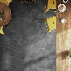 Carrelage hexagonal noir 29.2x25.4cm URBAN HEXAGON DARK 23515 -   - Echantillon Equipe