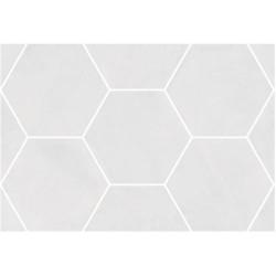 Carrelage hexagonal blanc 29.2x25.4cm URBAN HEXAGON LIGHT 23511 -   - Echantillon Equipe