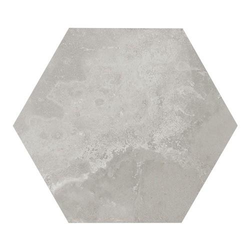 Carrelage hexagonal gris 29.2x25.4cm URBAN HEXAGON SILVER 23514 -   - Echantillon - zoom