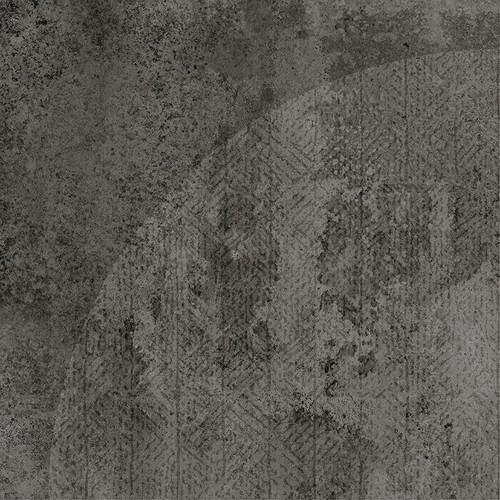 Carrelage imitation ciment décor noir 20x20cm URBAN ARCO DARK 23588 -   - Echantillon - zoom