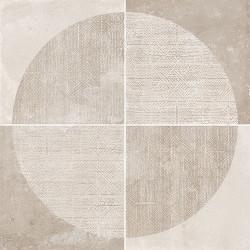 Carrelage imitation ciment décor beige 20x20cm URBAN ARCO NATURAL 23585 -   - Echantillon Equipe