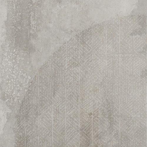 Carrelage imitation ciment décor gris 20x20cm URBAN ARCO SILVER 23587 -   - Echantillon - zoom