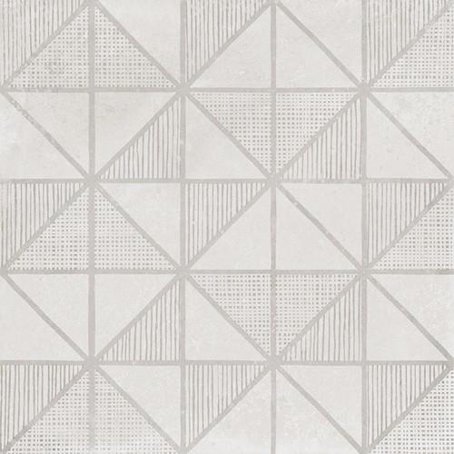 Carrelage imitation ciment décor blanc 20x20cm URBAN HANDMADE LIGHT 23536 -   - Echantillon - zoom