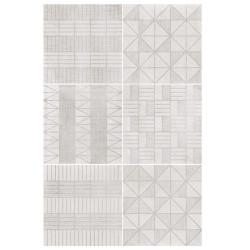 Carrelage imitation ciment décor blanc 20x20cm URBAN HANDMADE LIGHT 23536 -   - Echantillon Equipe