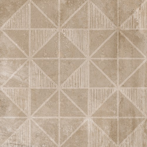 Carrelage imitation ciment décor beige marron 20x20cm URBAN HANDMADE NUT 23594 -   - Echantillon - zoom