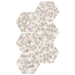 Carrelage hexagonal décor beige 29.2x25.4cm URBAN FOREST NATURAL 23618 -   - Echantillon Equipe