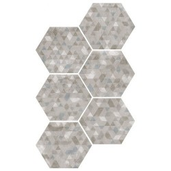Carrelage hexagonal décor gris 29.2x25.4cm URBAN FOREST SILVER 23615 -   - Echantillon Equipe