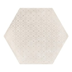 Carrelage hexagonal décor beige 29.2x25.4cm URBAN HEXAGON MÉLANGE NATURAL 23601 -   - Echantillon Equipe