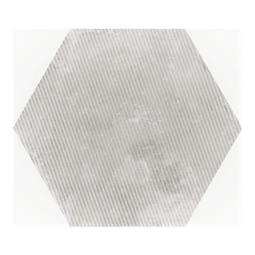 Carrelage hexagonal décor gris 29.2x25.4cm URBAN HEXAGON MÉLANGE SILVER 23603 -   - Echantillon Equipe