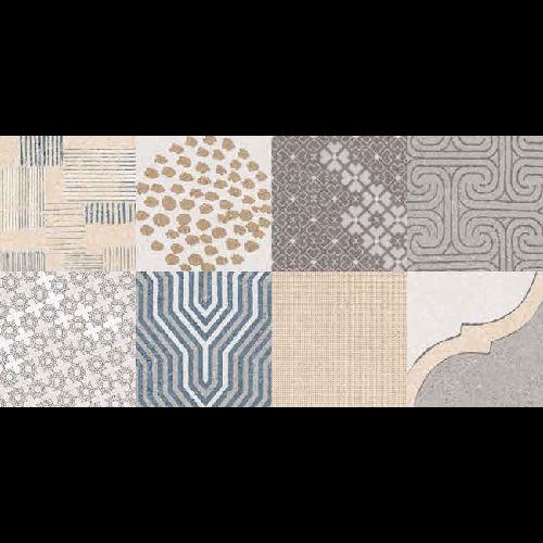 Carrelage imitation ciment léger style bohême SYRNA 30x60 - - Echantillon - zoom