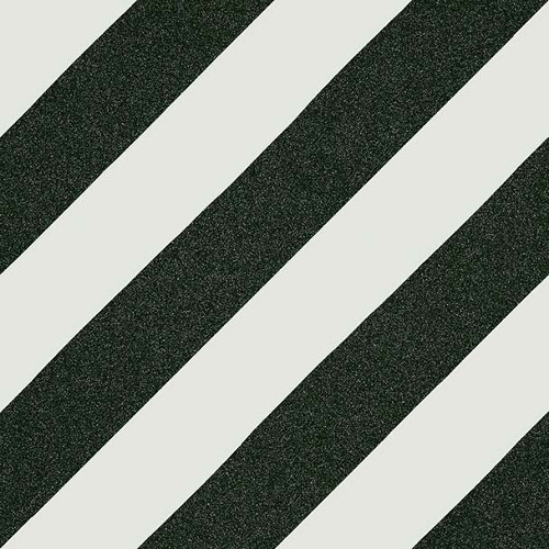 Carreau style ciment rayure noire 20x20 cm GOROKA -   - Echantillon - zoom