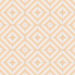Carreau style ciment rayure ocre 20x20 cm GOROKA -   - Echantillon Vives Azulejos y Gres