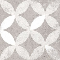 Carrelage style ancien Quatre-feuilles 20x20 cm KERALA Gris -   - Echantillon Vives Azulejos y Gres