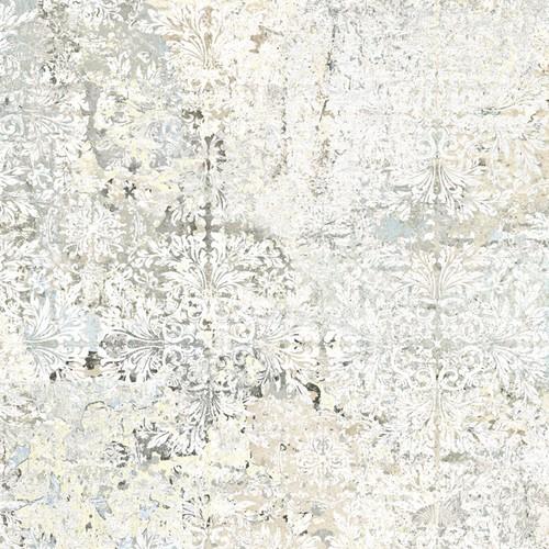 Carrelage décor floral vieilli CARPET SAND NATURAL 59.2x59.2 cm -   - Echantillon Aparici