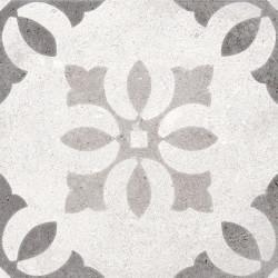 Carrelage motif ancien 20x20 cm Pukao Blanco -   - Echantillon Vives Azulejos y Gres