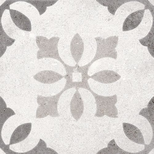 Carrelage motif ancien 20x20 cm Pukao Blanco -   - Echantillon - zoom