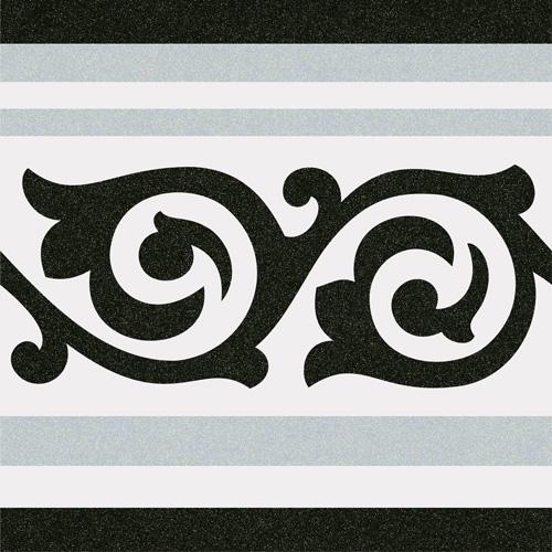 Carrelage imitation ciment 20x20 cm GIBERT-2 FRISE -   - Echantillon - zoom