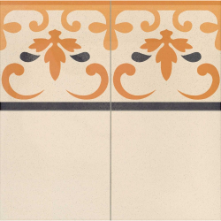 Carrelage style ancien GALES CENEFA Frise 44x44 cm -   - Echantillon Realonda