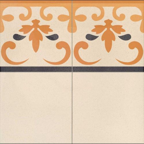 Carrelage style ancien GALES CENEFA Frise 44x44 cm -   - Echantillon - zoom