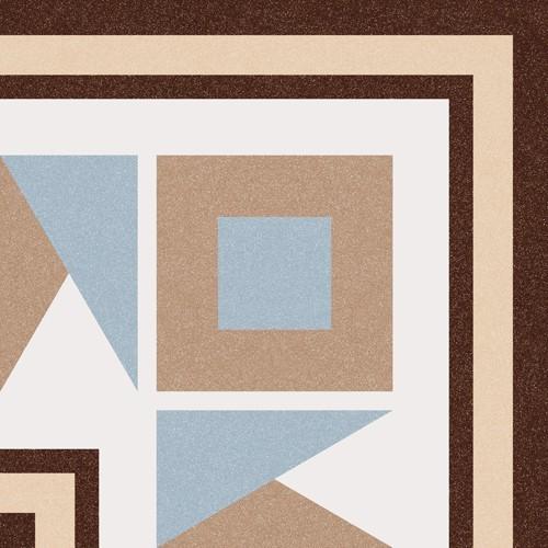 Carrelage imitation ciment bleu beige 20x20 cm 1900 FLORENTINA-3 - unité - Echantillon - zoom