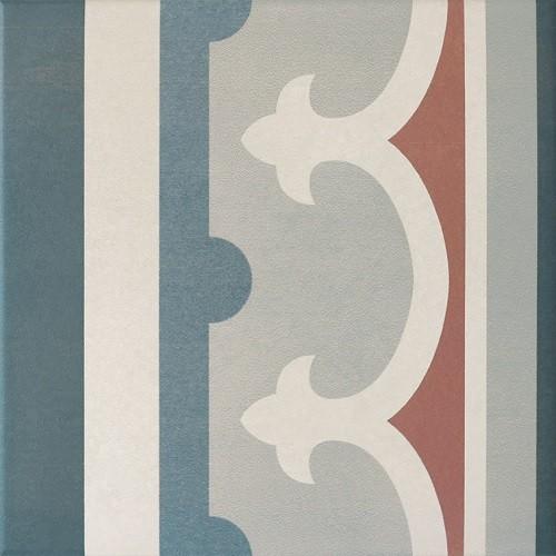 Carrelage imitation ciment rosace 20x20 cm CAPRICE SAINT TROPEZ Bordure 20942 -   - Echantillon - zoom