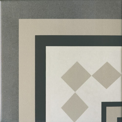 Carrelage imitation ciment cube gris blanc 20x20 cm CAPRICE PROVENCE ANGLE - unité - Echantillon Equipe