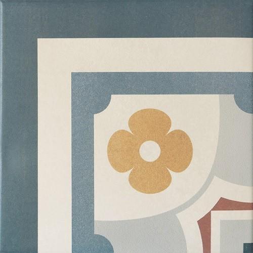 Carrelage imitation ciment rosace 20x20 cm CAPRICE SAINT-TROPEZ Angle 20943 - unité - Echantillon - zoom